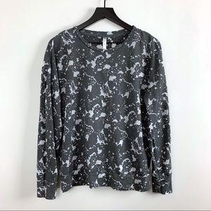Fabletics Burnout Sweatshirt Charcoal Grey L